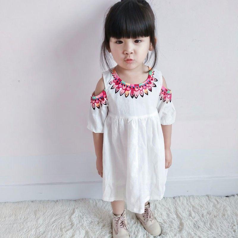 6dbca64d0d Wholesale 2018 Girls Bow Printed Dress Fashion Autumn Spring Full Sleeves  Girls Dresses 2-7t
