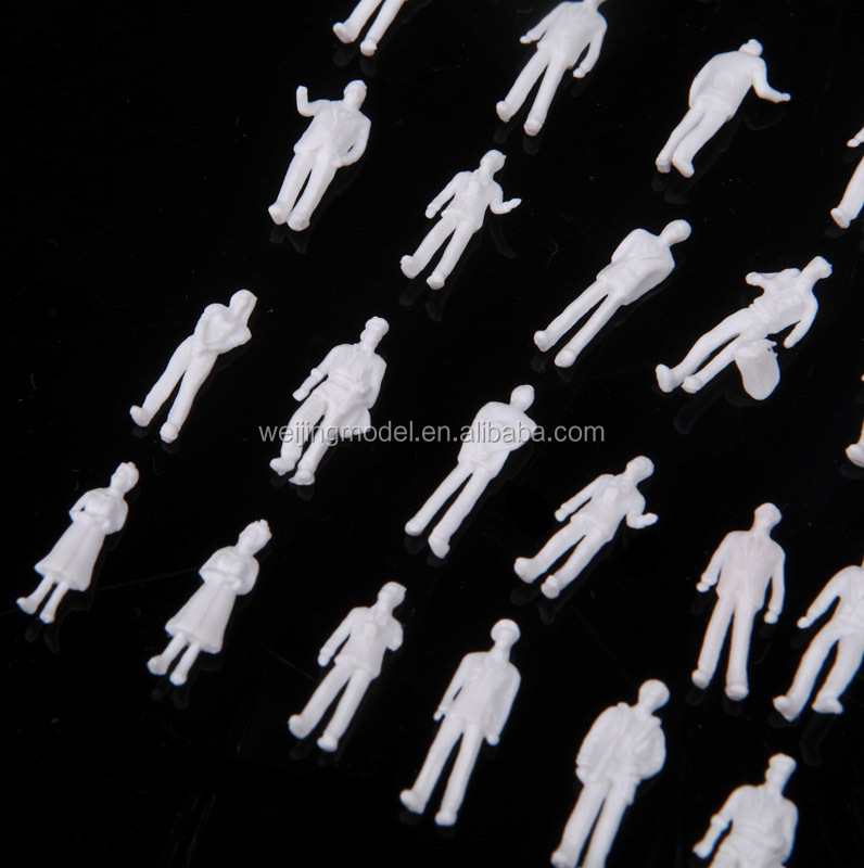 artificial model human white figure, white figure for Z scale, scale models figure, model white figure for 1/150