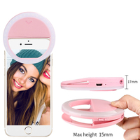 Portable christmas phone led lights selfie ring light