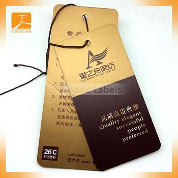 Direct Manufacturer Custom Fashion Design Garment Hangtags,Hang ...