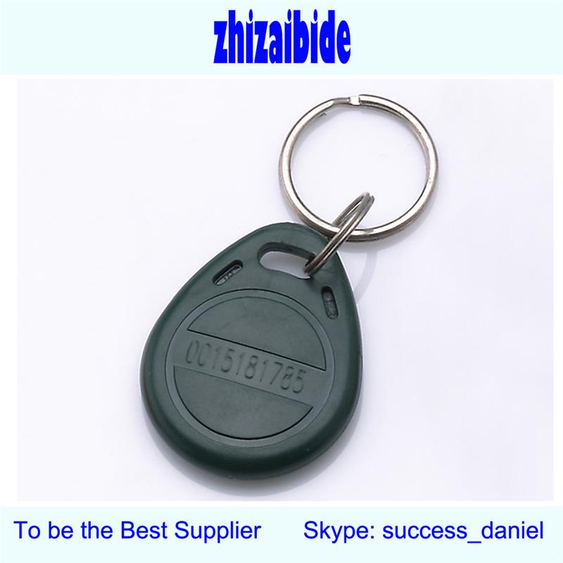 100pcs/bag 125 KHz Tag RFID key fobs T5577 chip rewritable read and write proximity <strong>ABS</strong> tags access control