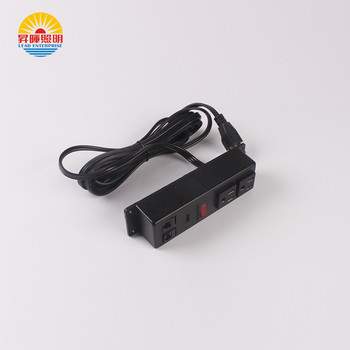 3 pin electrical switch power extension socket with RJ11& RJ45