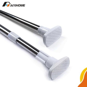 Professional Bathroom Curtain Rod,Complex Pipe Retractable Curtain Rods,Striaght  Portable Curtain Rod