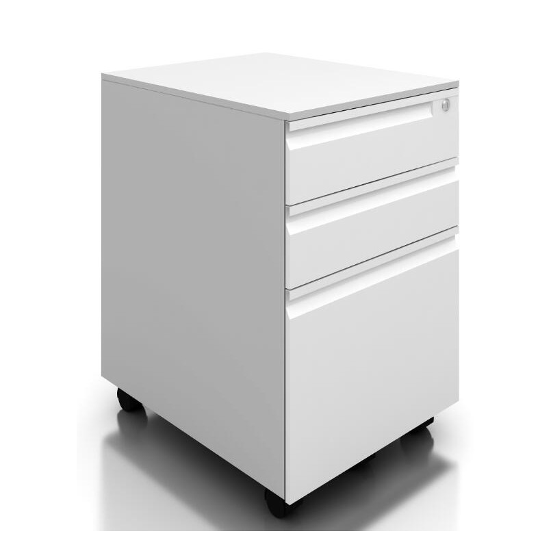 White Color Office Use 3 Drawer Under Table Filing Metal Storage Mobile Pedestal <strong>Cabinet</strong>