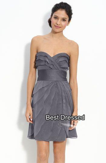 06440f439 plus size real photo vestidos de fiesta cortos A Line Mini Petal Cheap  Chiffon Bridesmaid Dresses