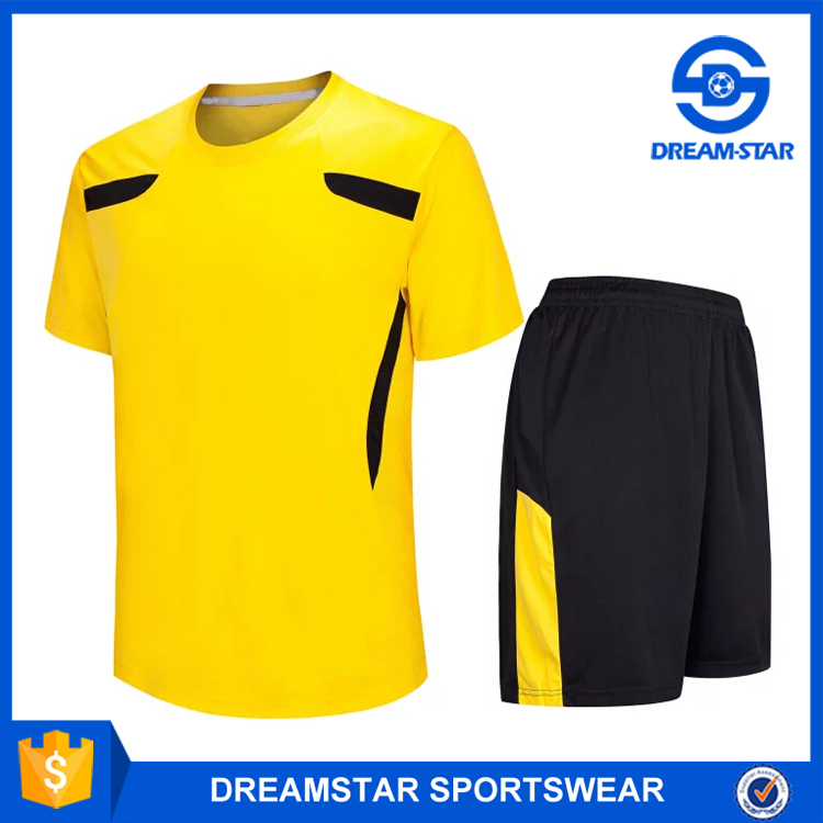 Wholesale Top Quality Stock Yellow Latest Training Jersey