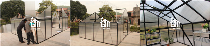 G-MORE 5 X 10 Meters 10MM Polycarbonate Commercial Greenhouse