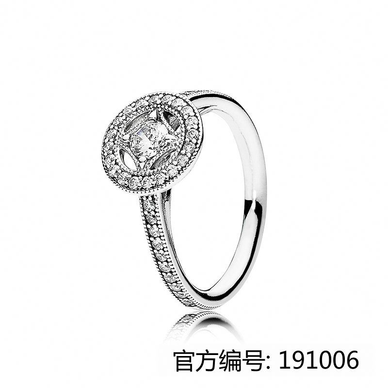XINHUI 2017 hot Vintage Allure Clear CZ ring for pandoras bracelet silver 925 factory wholesale 1:1 silver ring