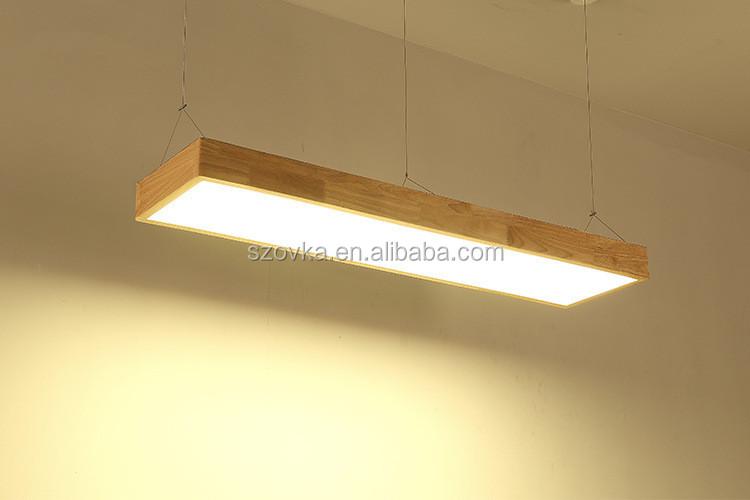 Kayu Solid Panjang Kantor Lampu Led Ruang Tamu Kreatif Bar Meja