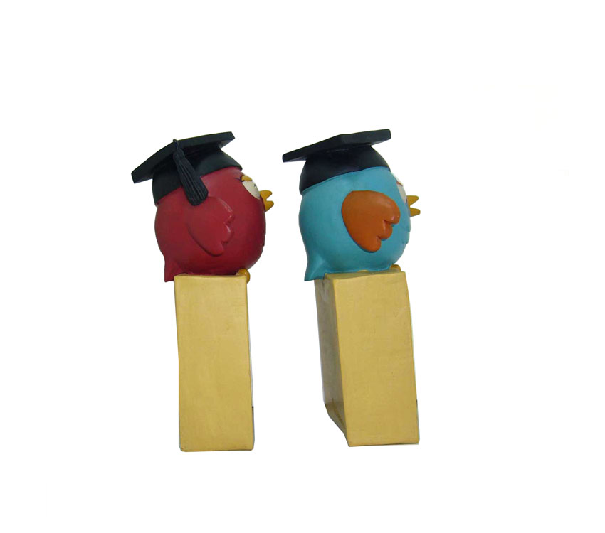 S/2 Resin Owl Figurines Teacher Plaques Graduation Gifts