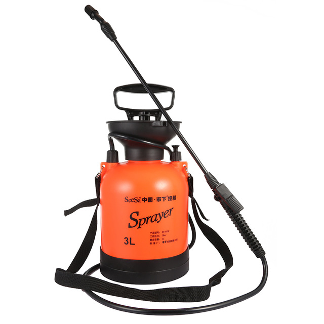 3L Super Strong Weed Garden Pressure Sprayer with Long Stainless Steel Wand