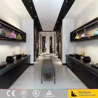 Modern Retail Garment Ladies Clothes Shop Interior Design Boutique Shop Display Purse and Shoes Display