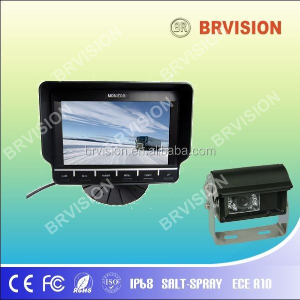 7 Inch truck rear view camera system with auto shutter camera