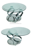 2016 new design modern glass rotable coffee table