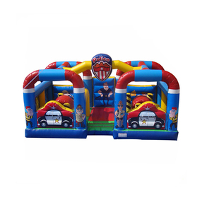 Neverland Toys Best Selling Inflatable Police Dog Castle Cheap Inflatable Jumping Castles
