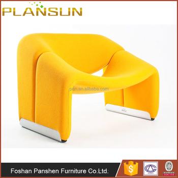 Rplique Moderne Fauteuil Design Organique Pierre Paulin F598 Groovy M Salon Chaise