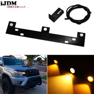 3pcs High Power Super Bright Raptor Style LED Grille Lights Kit w/ Mounting Bracket For 2009-up Ford F-150, Amber/White
