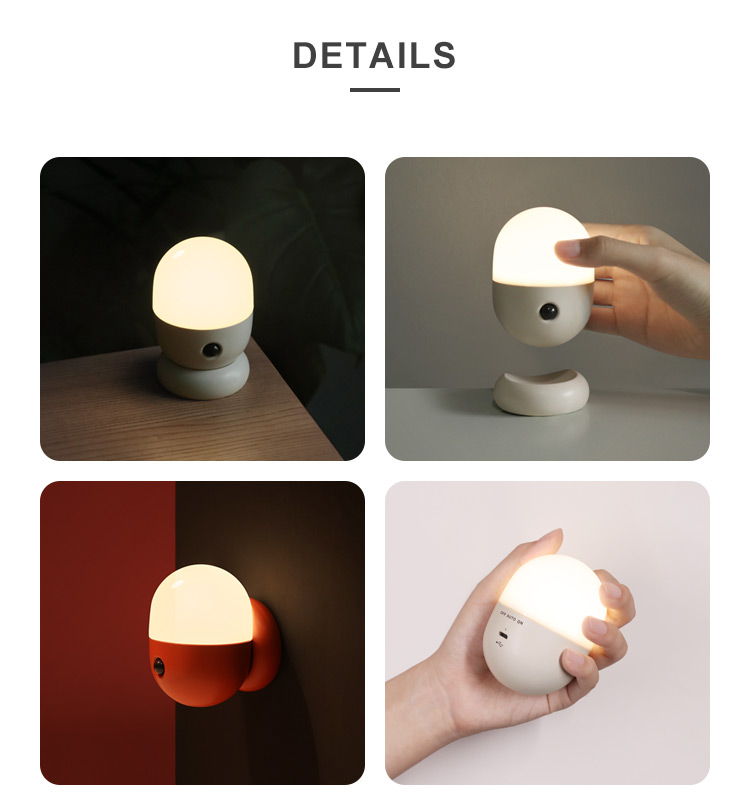 Mini Led Battery Rechargeable Capsule Sensor Lamp Bedside