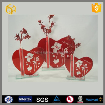 Happy Valentine Glass Rosevalentines Hand Painted Wine Glass   Happy  Valentine Glass Rose