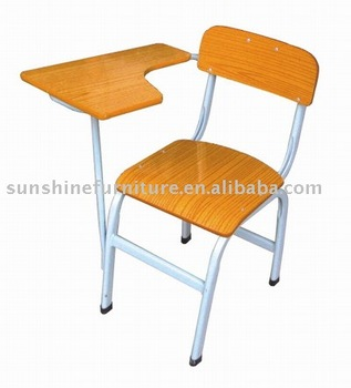 School Classroom Wooden Iron Desk Chairs