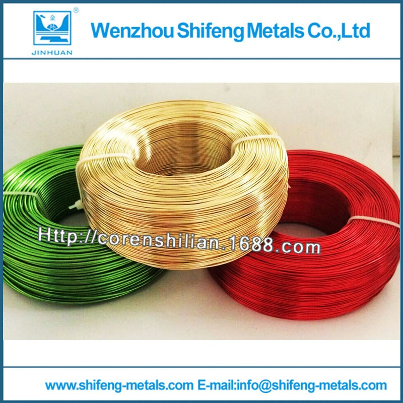 Customize 1.5mm Dia Orange Craft Jewelry Making Craft Color Aluminum Wire