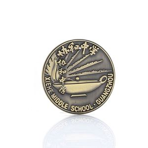 Factory Direct Sale Custom Cheap Metal High Quality School Graduation Souvenir Coins