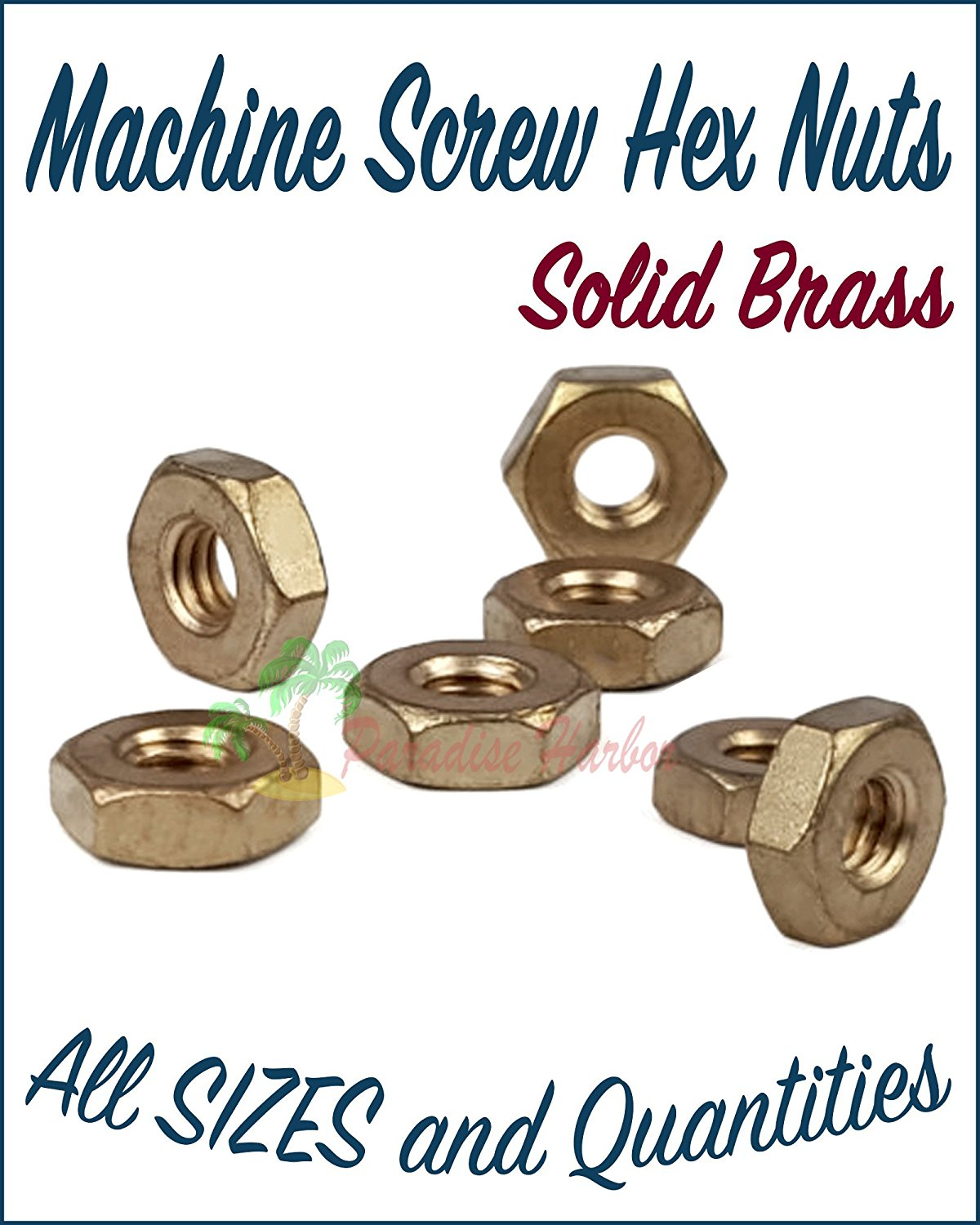 10-24 Wing Nuts Solid Brass Quantity 250