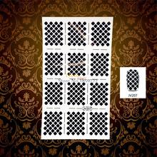 1PC DIY White Hollow Nail Art Sticker Stencil Waterdrop Pattern HWJV207 Nail Vinyls Polish Airbrush Decal