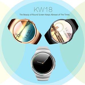 KW18 Smart Watch MTK2502C 1 3 Inch Round Screen IPS LCD Anti-Lost Alert  Remote Camera
