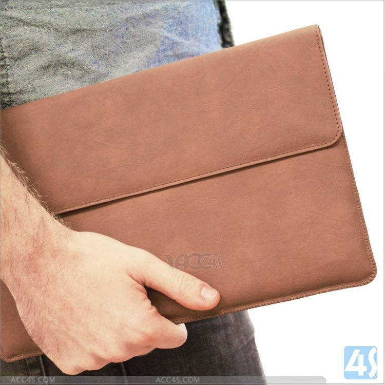 for Microsoft Surface 1 & 2 Leather Wallet Case with card slots, business bag for microsoft surface