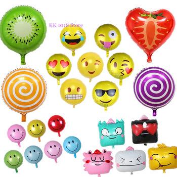 Custom Aluminum Foil Balloon Emoji Decoration Birthday Balloons