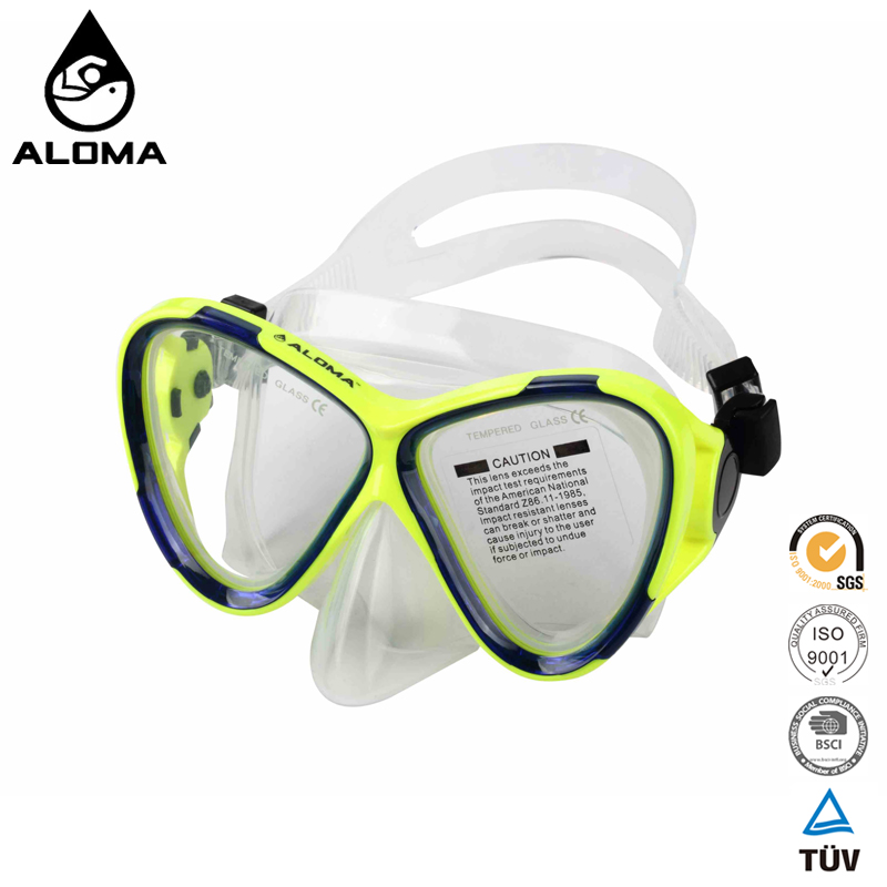 New products 2017 scuba Silicone tempered glass diving mask