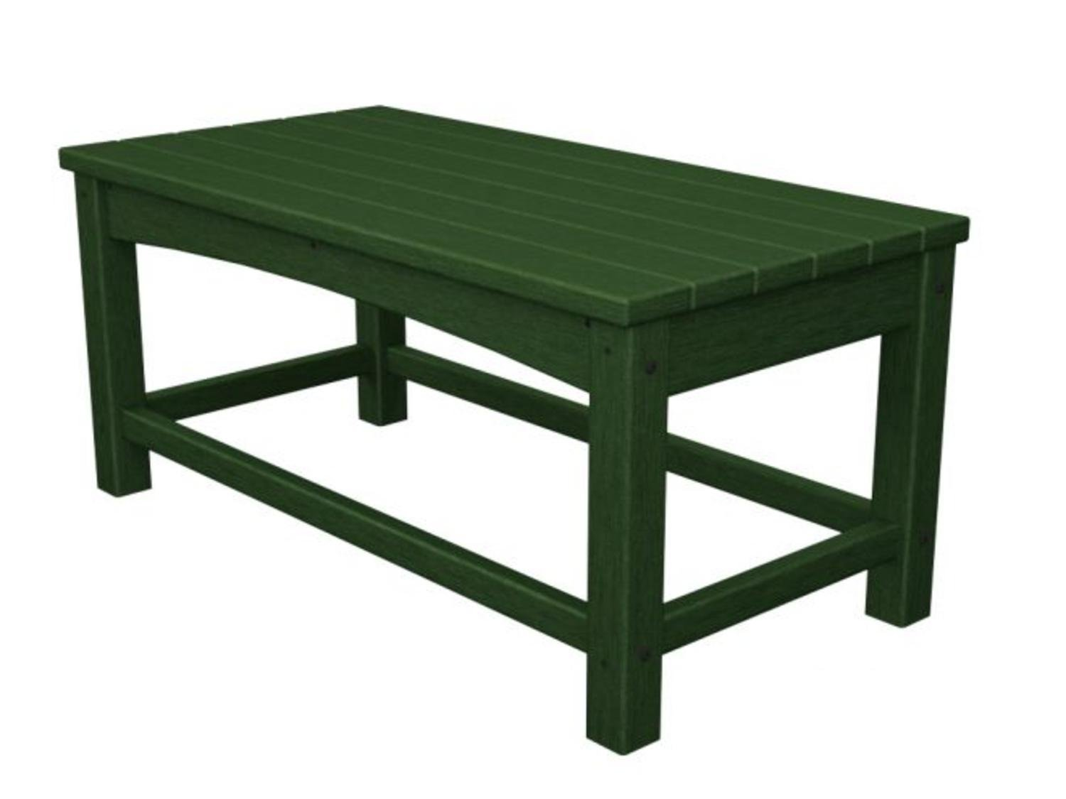 """35.5"""" Recycled Earth-Friendly Outdoor Patio Club Coffee Table - Green"""