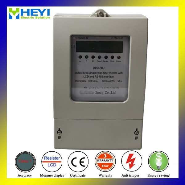 DTS450J three phase New type LCD display active energy meter with rs485
