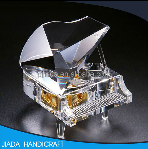 Note Grand Crystal Piano Music Box Luxury Boutique Diy Music Box