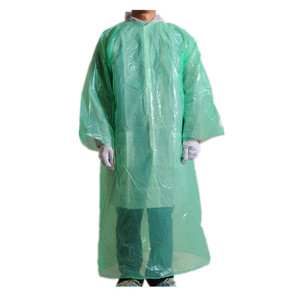 PE Plastic Disposable Aprons with Long Sleeves