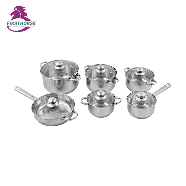 SKU Modern Home Cooking Pot & 12 pcs Panelas de aço inoxidável Set BG-01C