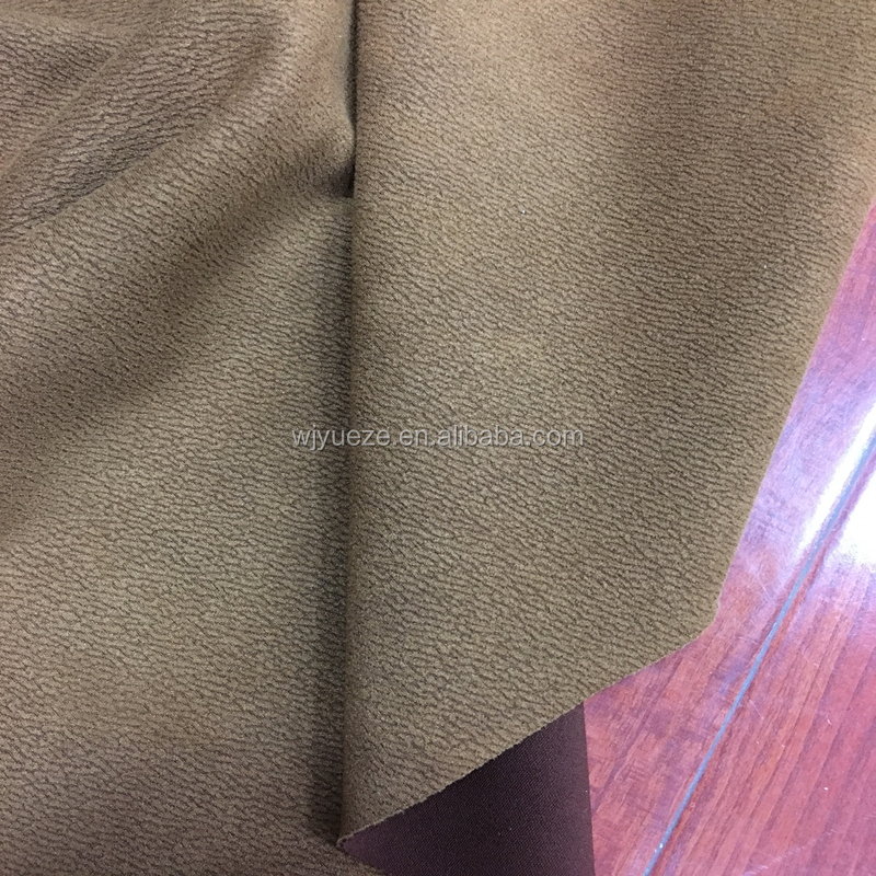 knitted stretch suede for fashion jackets