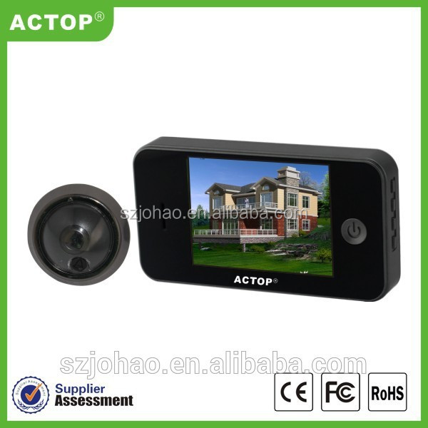 ACTOP manufactures hot sell 3.5 inch ip camera peephole with wide degree view angle