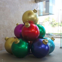 christmas ball ornament stack large outdoor bauble for decoration