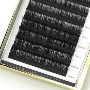 Custom logo package 0.07mm 3D nature&soft J/B/C/D curl all length false eyelash extension Mink 3D