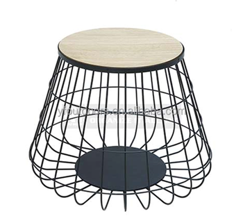 Home Accent Modern Style Round Wire Elegant Iron Side Coffee Table Base