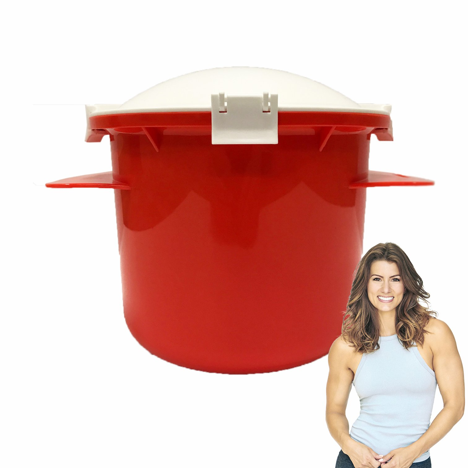 Jen Widerstrom Microwave Rice Cooker Deluxe (Red)