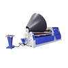 Hydraulic new type sheet roller rolling machine, cnc 4 roller plate rolling machine