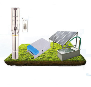 high power solar water pump system with solar pv panel , solar submersible water pump