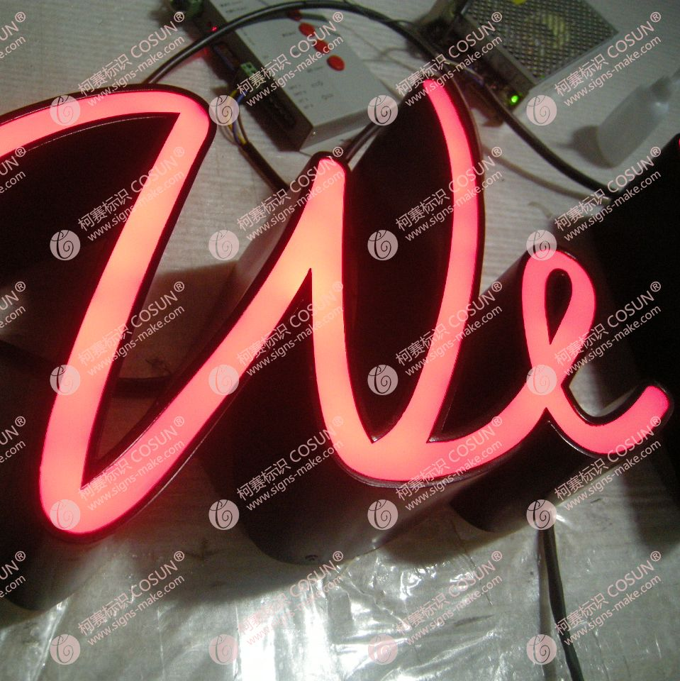 no rim LED face lit letter