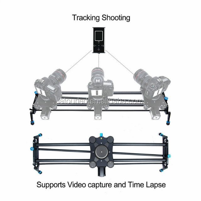 Film shooting equipment motorized camera slider timelapse electronic video slider,120cm electric motor parallax slide