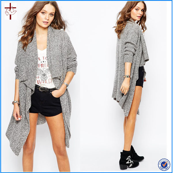 2015 New Look Waterfall Cardigan Without Buttons for Women