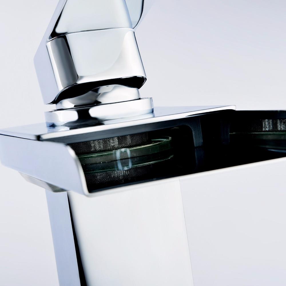 Modernes design messing körper led licht bad waschbecken ...