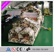 Attractive outdoor sport games inflatable obstacle course, inflatable army track obstacle for kids
